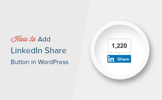 Comment ajouter un bouton de partage officiel LinkedIn dans WordPress