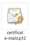 Certificat e-mail gratuit Fichier P12