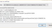 Certificat e-mail gratuit ajout thunderbird 5