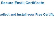 Certificat e-mail gratuit génération certificat