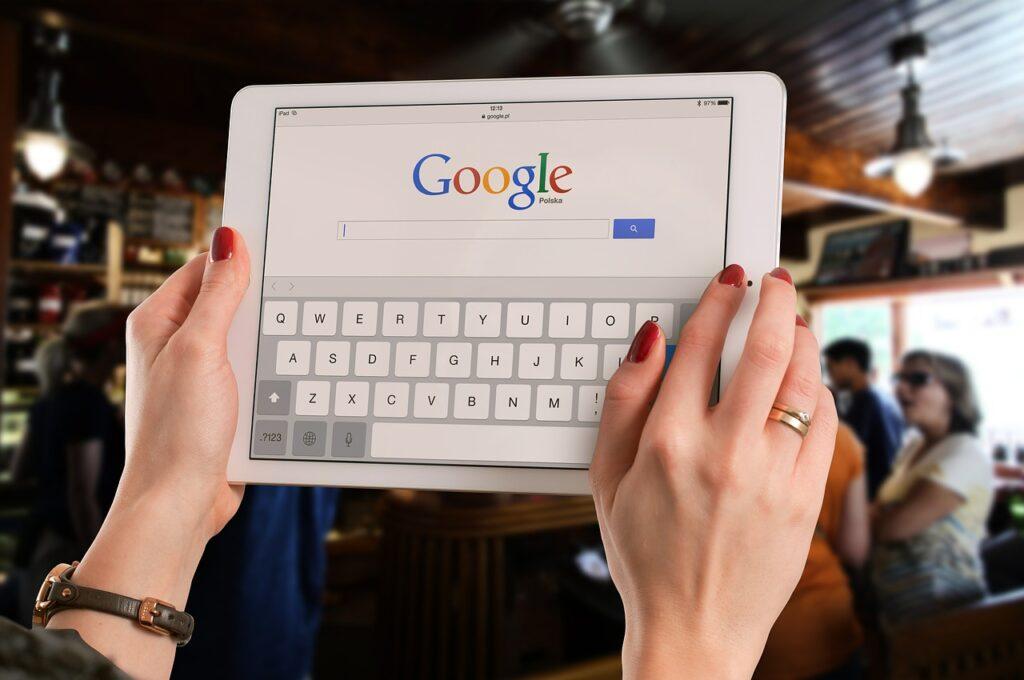 google sur tablette