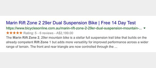 Extraits enrichis dans la recherche Google