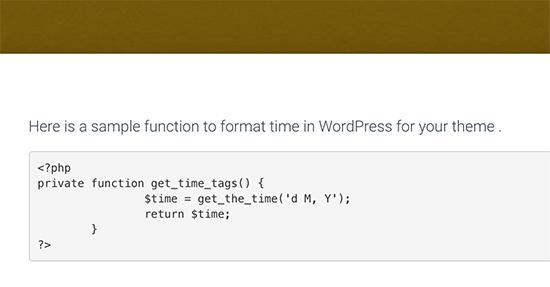 Code PHP affiché dans WordPress