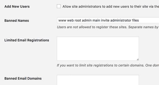 Options d'inscription
