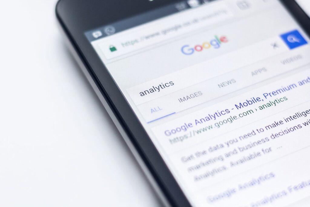 Google sur smértphone